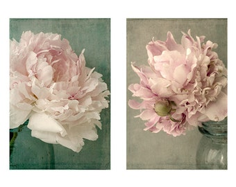 Peony Print Set, Floral Art Print, Peony Wall Art, French Country Decor, Flower Art, Bedroom Decor