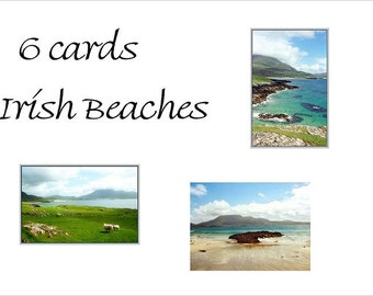 6 Irish Beach Blank Cards Photo Cards, St. Patricks Day, Beach Pictures, Holiday Card Set,