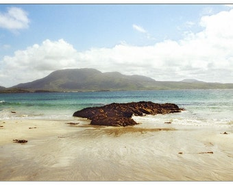 Ireland Photograph Card, Irish Beach, St. Patrick's Day Photo Card
