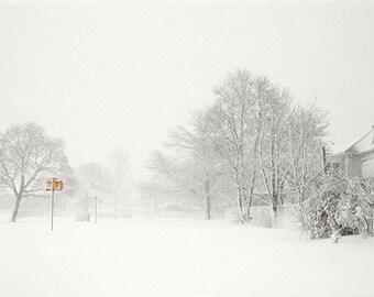 Winter Landscape Photography, New England Snow Scene,  Holiday Decor, Winter Wall Decor