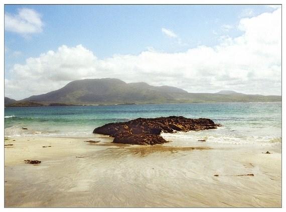 Ireland Photograph Card, Irish Beach, St. Patrick's Day Photo Card