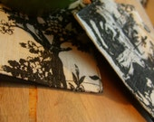 Toile Linen Coasters...set of 4