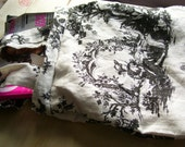 You have Just Found Your Fave  Bag ... Boy Meets Girl...Toile  Linen Tote