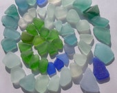 A Lot of Beautiful Blue Green Sea Glass, Seaglass, Beach Glass for Jewelry or Craft