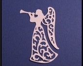 Ivory Filigree Angel Die Cut