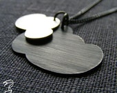 SALE - Sterling silver Necklace - Drive The dark clouds Far away