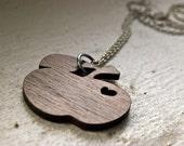 Walnut Apple Necklace - Wooden Pendant - First Taste