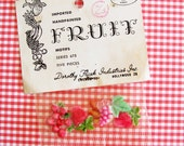 Juicy Fruit...Bitty Vintage Handpainted Embellishments