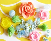 Color Wonder...Yummy Vintage Beads, Buttons, & Rosy Trims