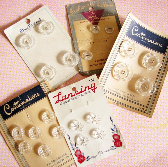 Crystal Clear...Charming Vintage Buttons