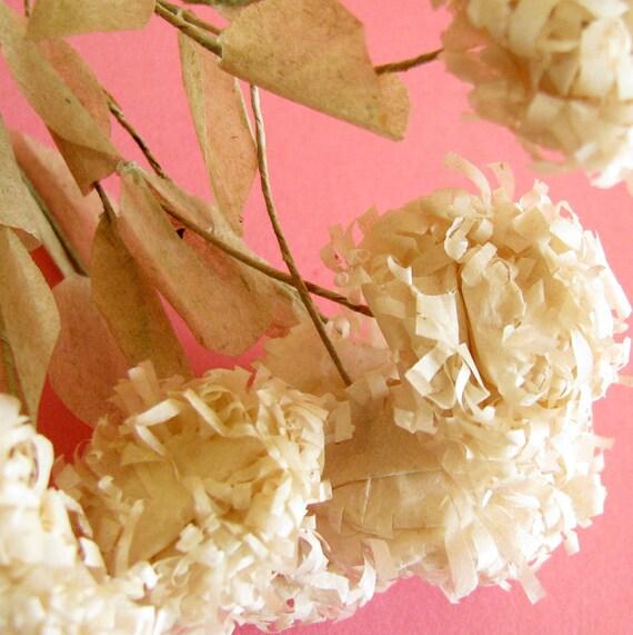 Paper Puffballs...Romantic Vintage Flower Decorations
