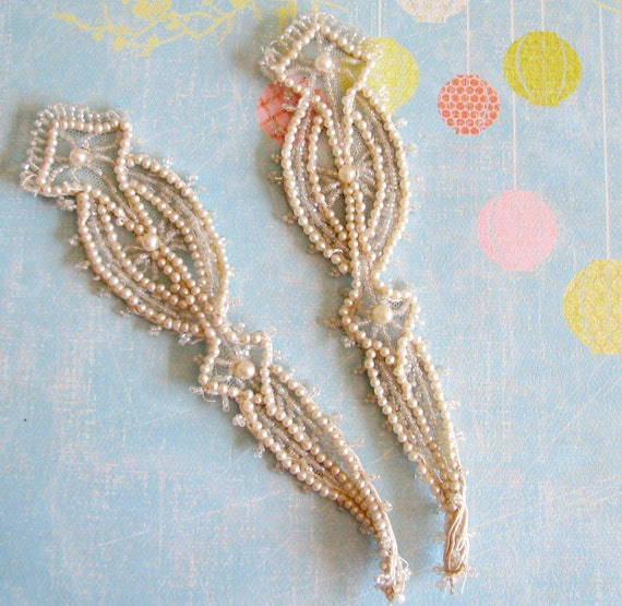 Faded Glam...Shimmery Old Pearl & Bead Trims
