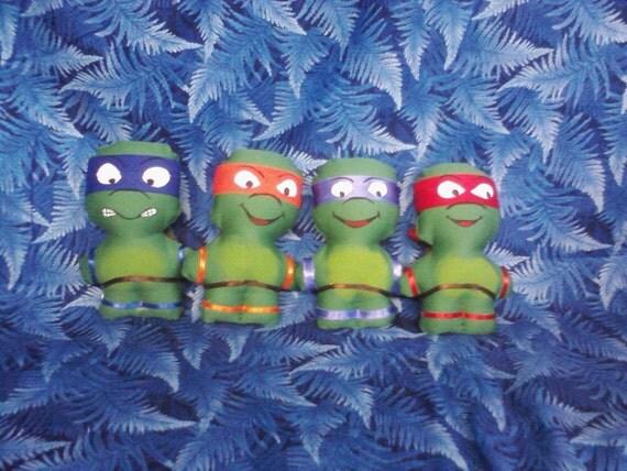 Teenage Mutant Ninja Turtles Mini Plushies Set