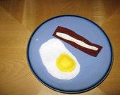 Felt Fried Egg & bacon  Playfood for toddler imaginative play (SALE)