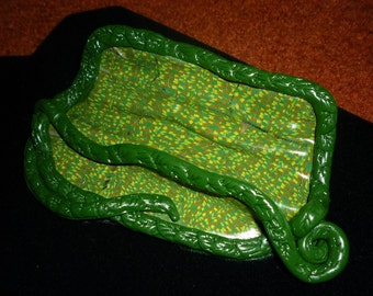 Business Card Holder Polymer Clay Stocking Stuffer Great Green Gift