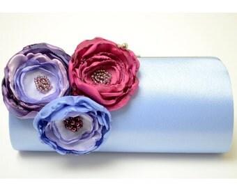 Bridesmaid Clutch in Periwinkle - Bridal Clutch - Shabby Chic Bouquet Clutch -Bouquet Alternative