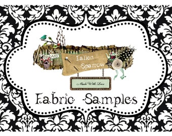 Individual Fabric Samples ~ Match colors for your Wedding or Special Occasion