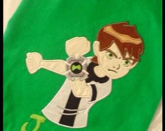 Custom Ben10 Appliqued Shirt..Boy or Girl