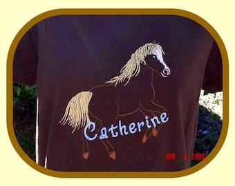 Custom Boutique HORSE and Name APPLIQUE Shirt