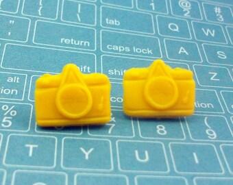 Yellow Camera Earrings