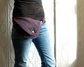 Purple Belt Bag : Hip Bag, Fanny Pack, OOAK