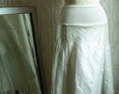 Metallic White Linen Skirt : Womens Skirts - S - size 6 to 8