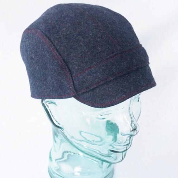 Cycling Cap : Indigo Blue Wool, Mens, Womens Hat - L