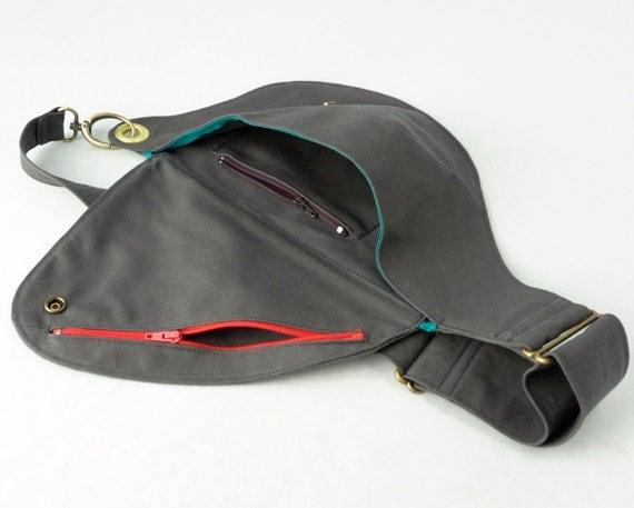 Belt Bag in Slate Blue Cotton : Fanny Pack, Hip Bag