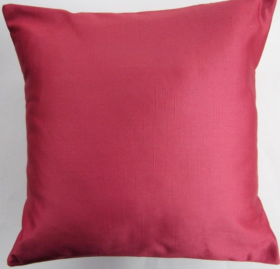 Honeysuckle Pillow - Pink Throw Pillow Cover - Coral Decorative Cushion Cover -- 18 x 18