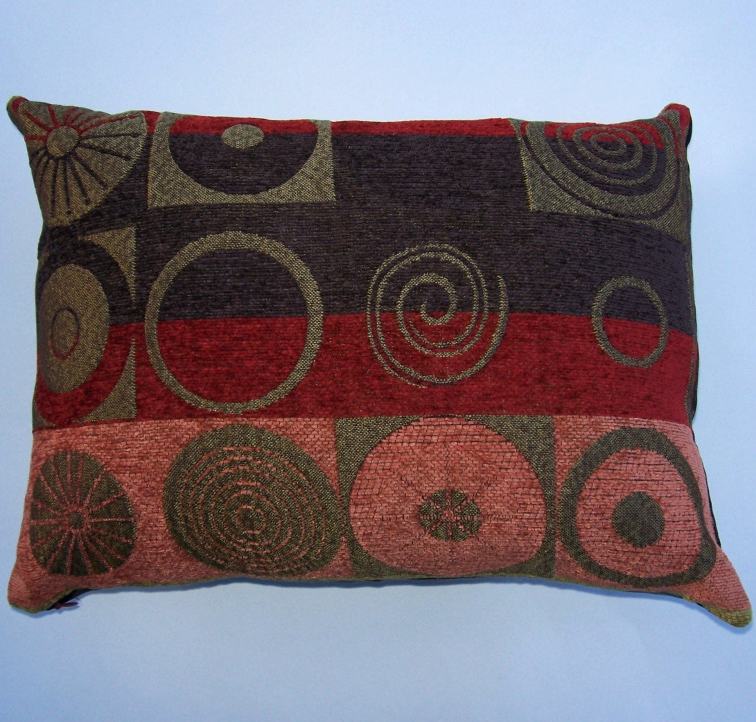 Brown and Rust Throw Pillow Cover 12 x 16