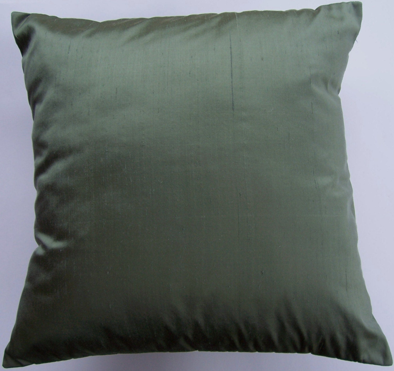 dark green pillow cover simply silk throw pillow cushion. Black Bedroom Furniture Sets. Home Design Ideas