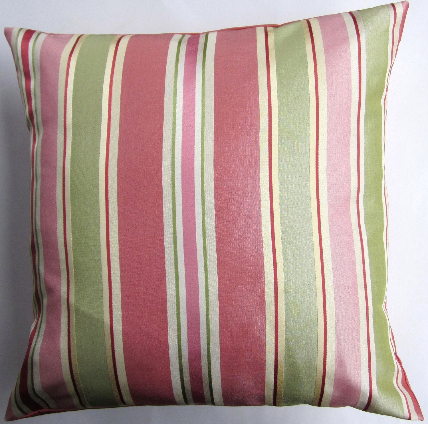 Pink Throw Pillow Cover Striped Cushion Cover in Coral