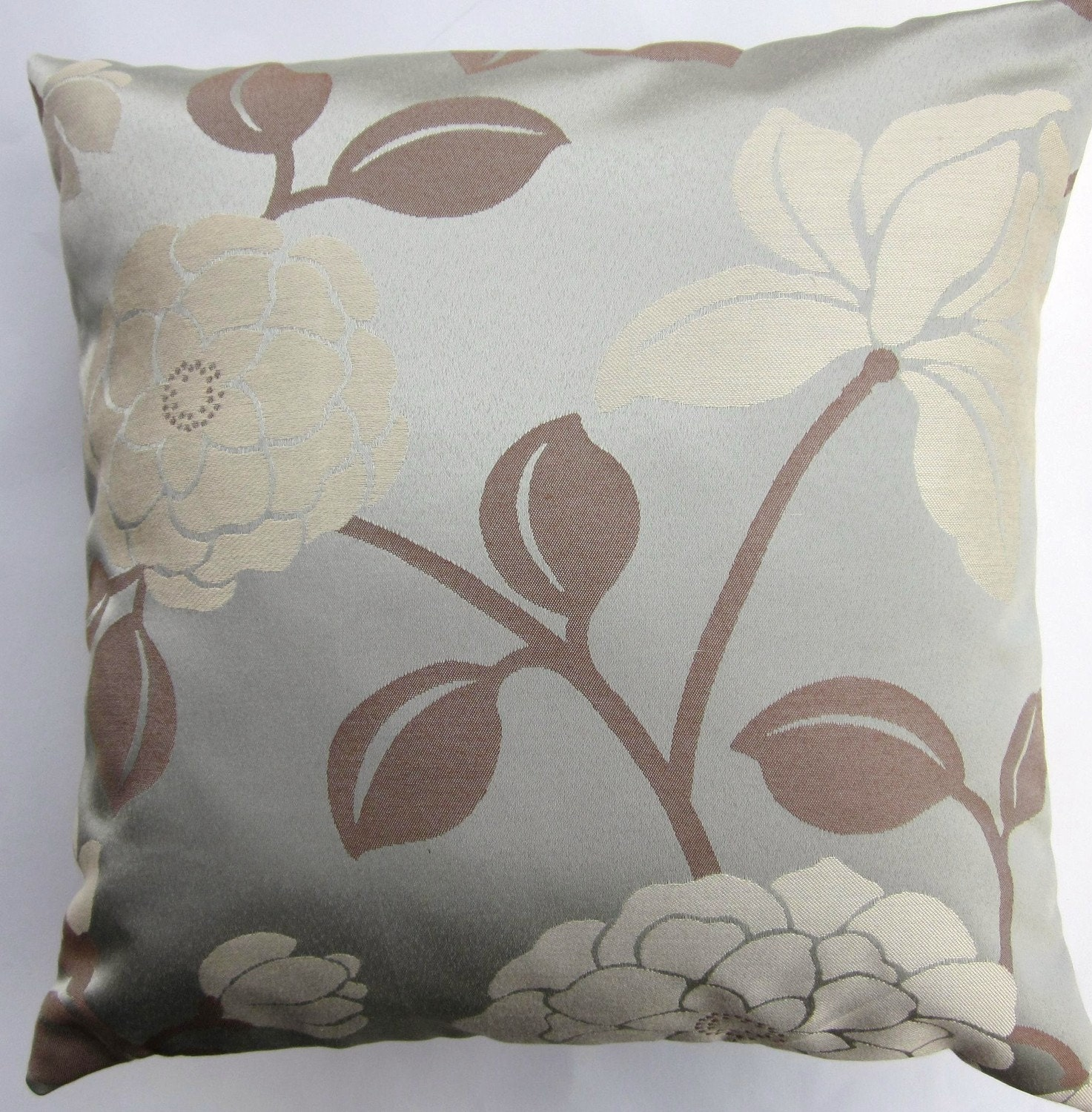 Blue Pillow Cover Spa Blue Magnolia Throw Pillow Cover