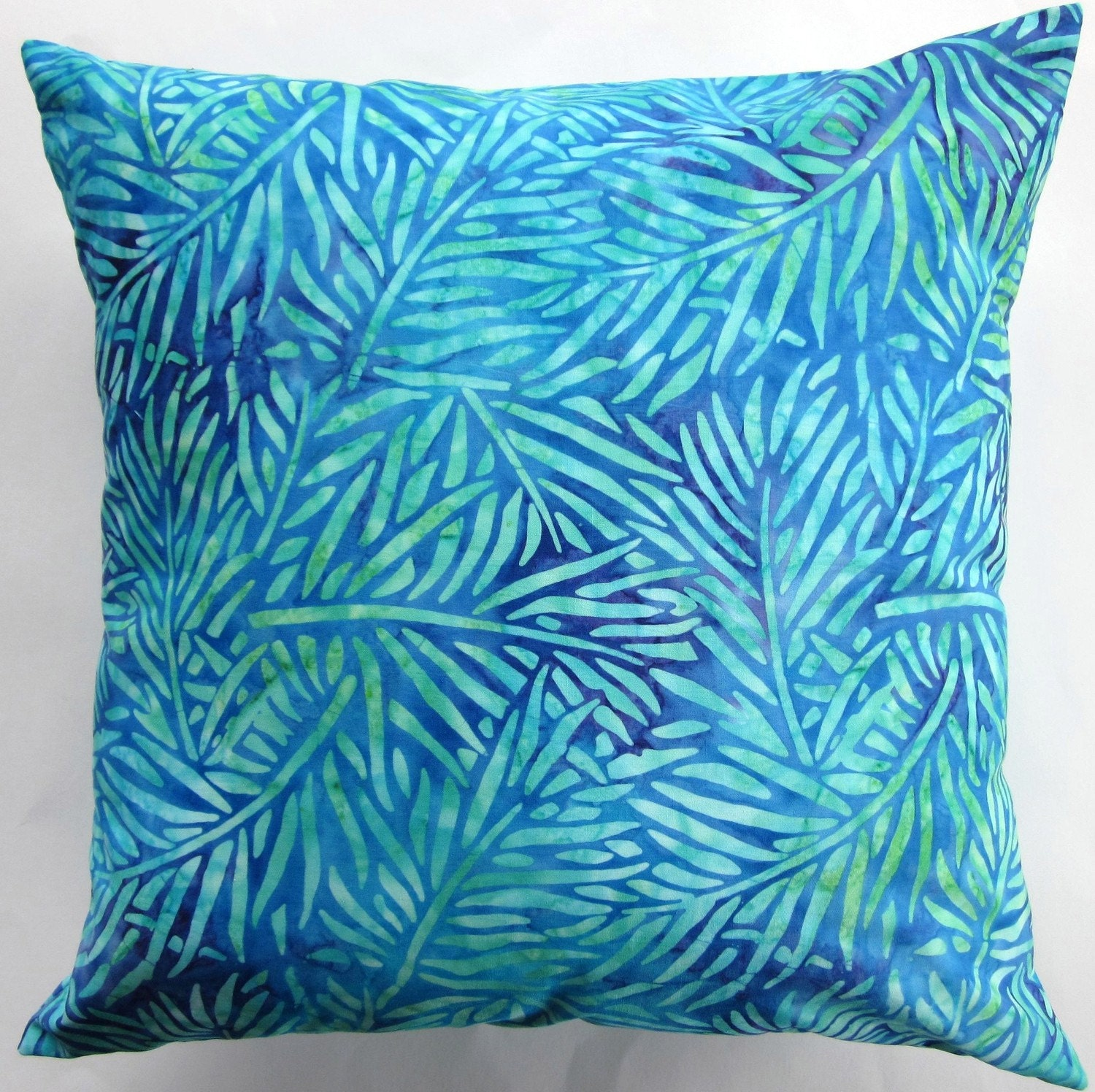 Turquoise Throw Pillows Covers : Turquoise Batik Throw Pillow Cover Cushion Cover in
