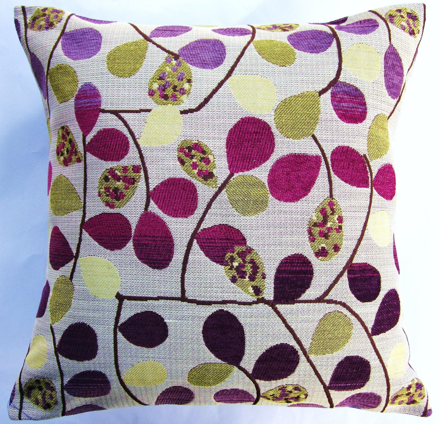 Purple Decorative Pillow : Purple Throw Pillow Cover Pots of Purple and Gold Cushion