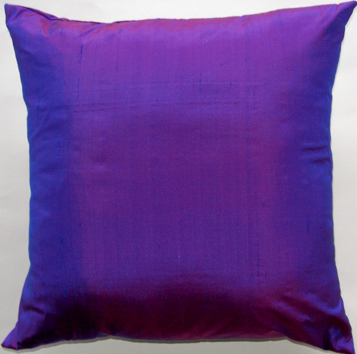 Violet Purple Throw Pillow Silk Cushion Cover 18 x 18