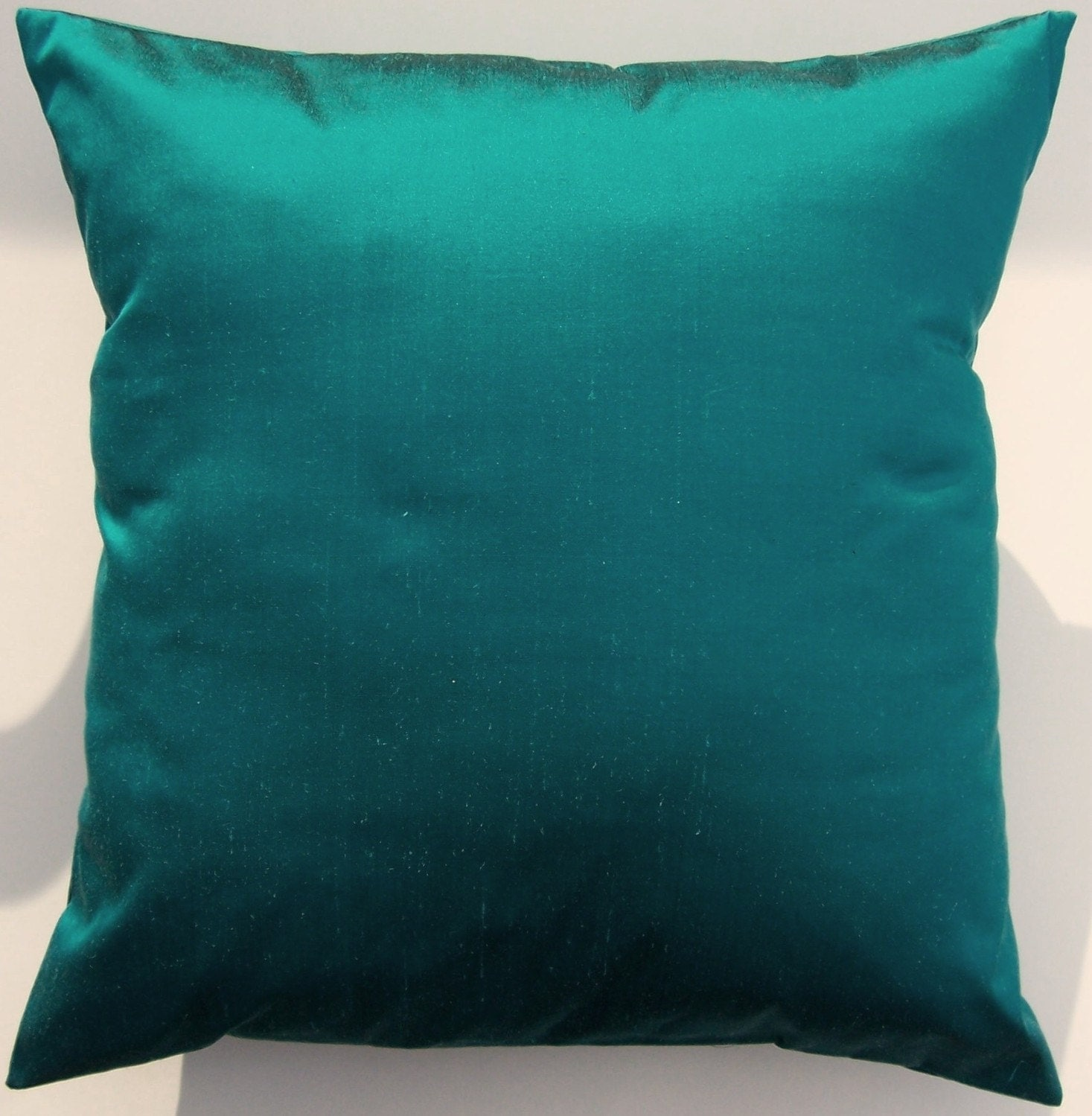 Teal Throw Pillow Cover Simply Silk Teal by sassypillows on Etsy