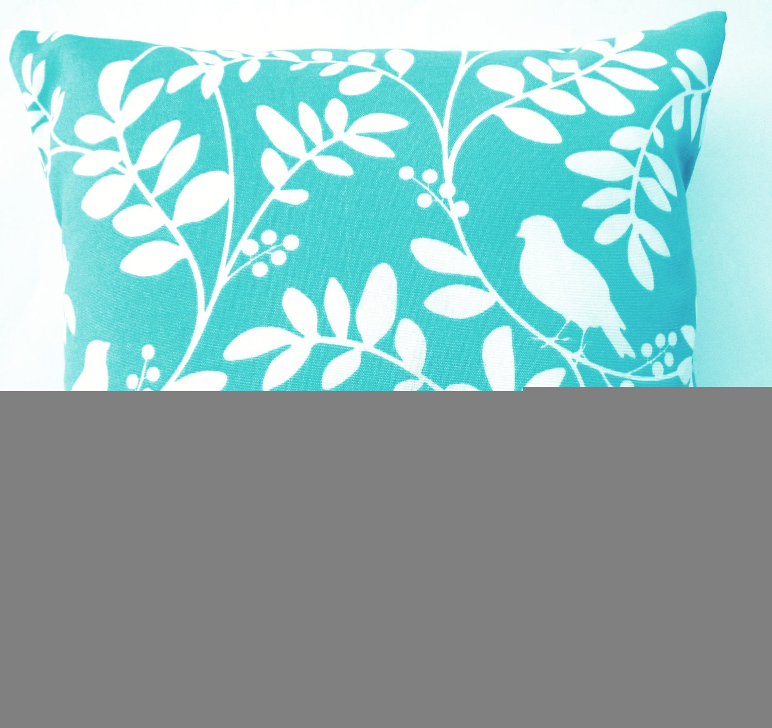 Throw Pillows Tiffany Blue : Turquoise Throw Pillow Indoor Outdoor Tiffany Blue Birds