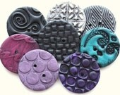 Passion - Handmade Polymer Clay Buttons (8)