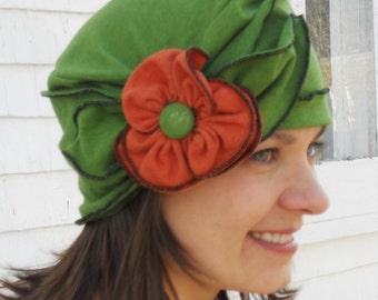 Organic Cotton and Hemp Jersey Turban, summer Brooke, Avocado Green