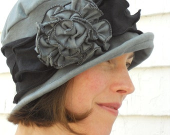 Organic Cotton and Hemp Jersey Travel Cloche - Flapper Hat - Organic Charlotte