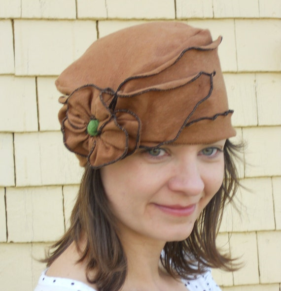 Organic Cotton and Hemp Jersey Turban, Summer Brooke, Brown