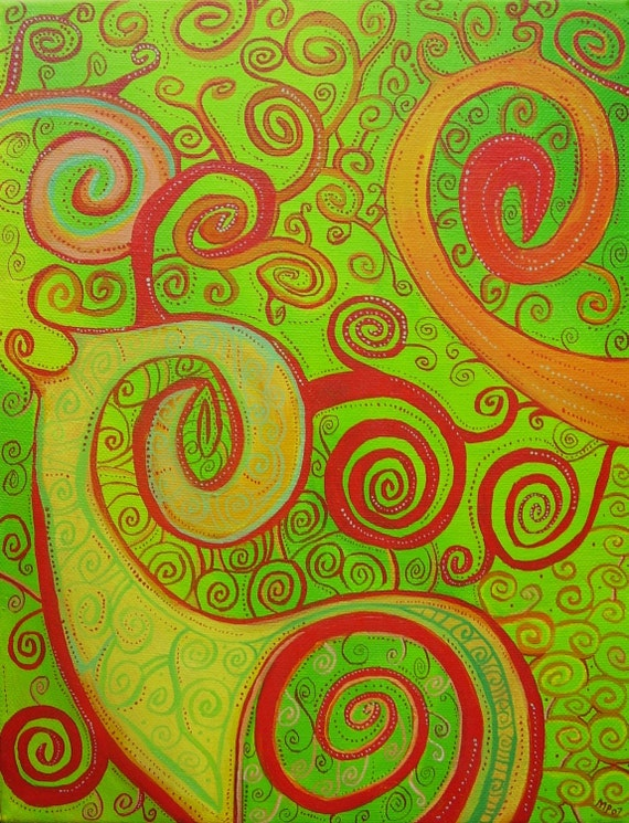 Swirling Dervish - an original canvas painting