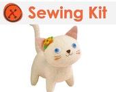 Japanese Plush Kit - White Cat