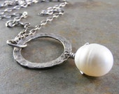 Timeless Fine Silver and Freshwater Pearl Necklace