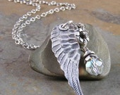 Brave Girl Wing Handcrafted Sterling Silver Necklace