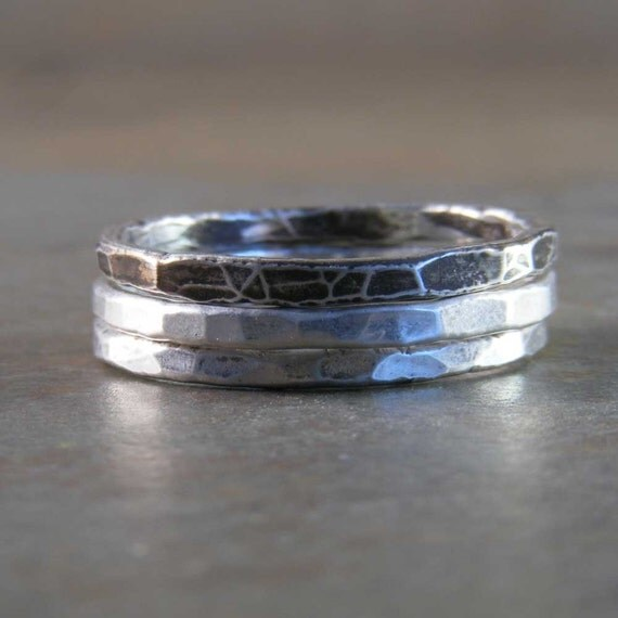 Fine Silver Stack Ring Set