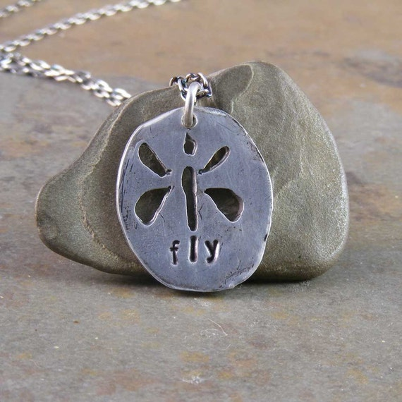 Dragonfly Handcrafted Fine Silver Necklace