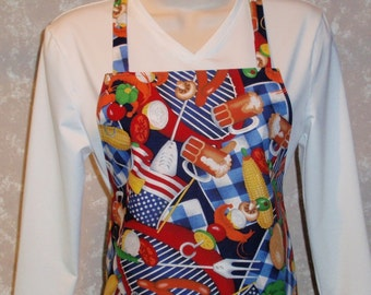 BBQ Adult Size Apron - Reversible