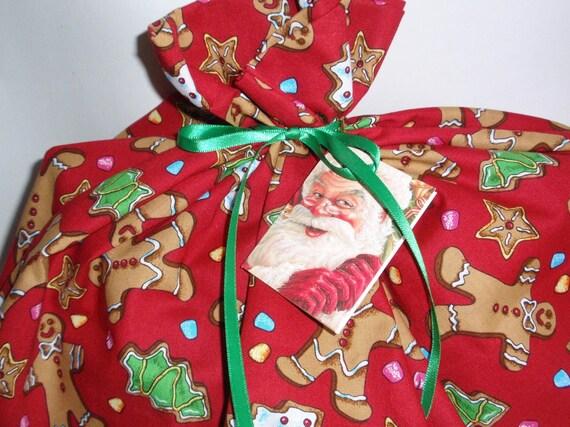 Giant gift bag christmas fabric reusable by ksewingbasket